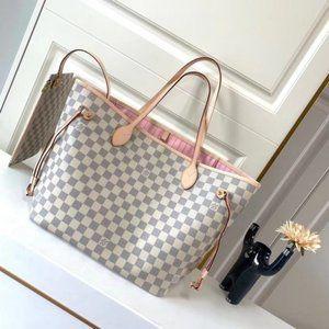 🍿LouisVuitton🍿 Neverfull MM Damier Azure Bag